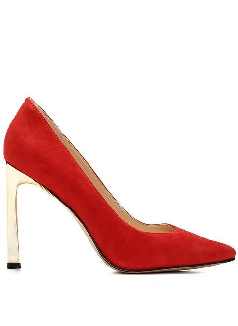 Nine West %100 Süet Klasik Ayakkabı Kırmızı